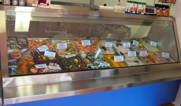 Stainless Steel Seafood Display Unit